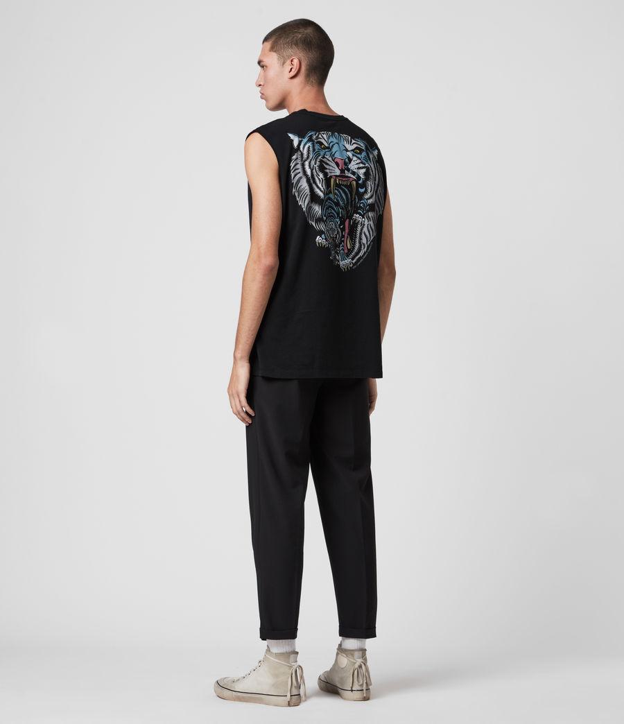 Mens Twin Tiger Sleeveless Crew T-Shirt (jet_black) - Image 6