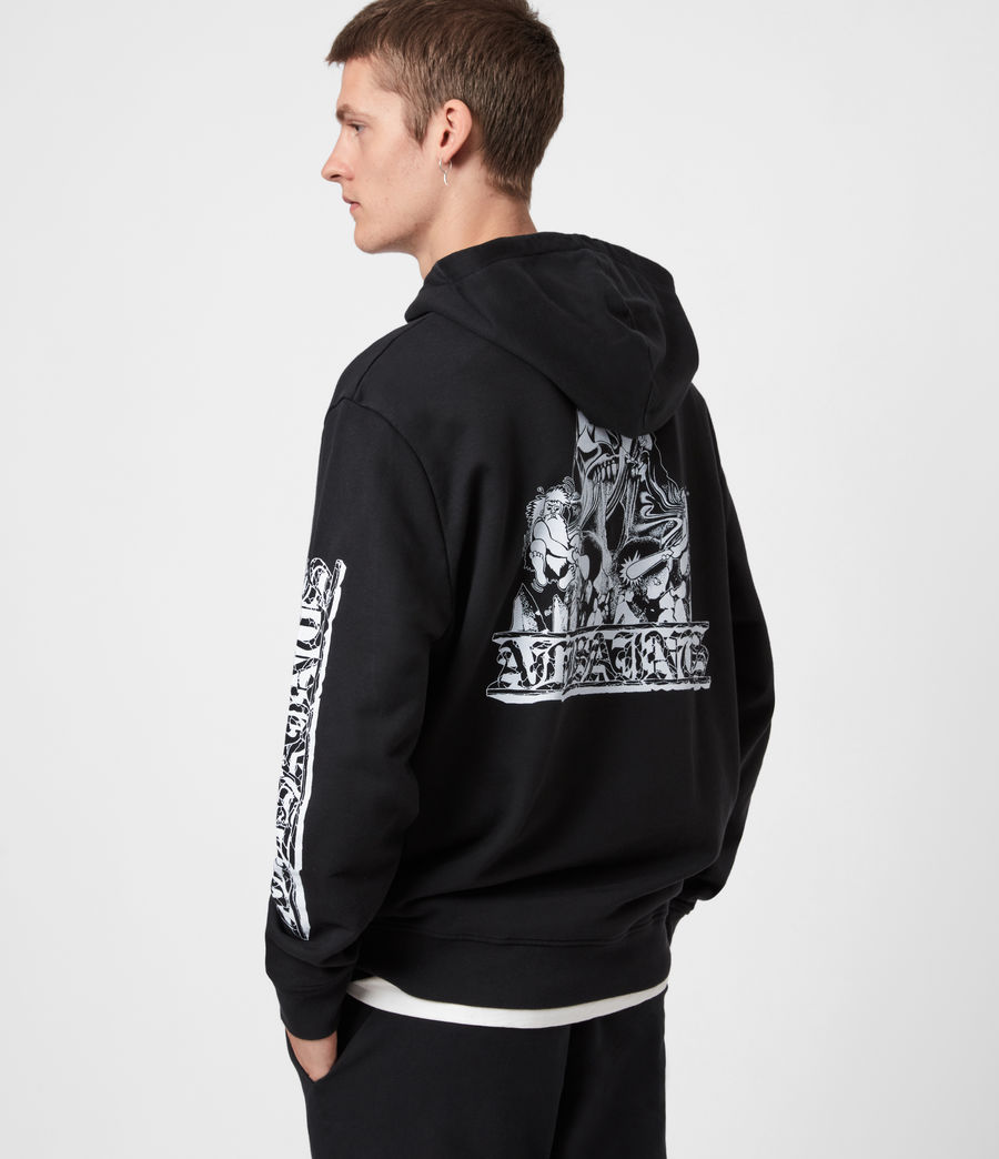 Men's Troglodyte Hoodie (jet_black_optic) - Image 4