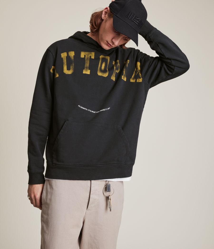 Herren Nutopean Wreck Pullover Hoodie (washed_black) - Image 3