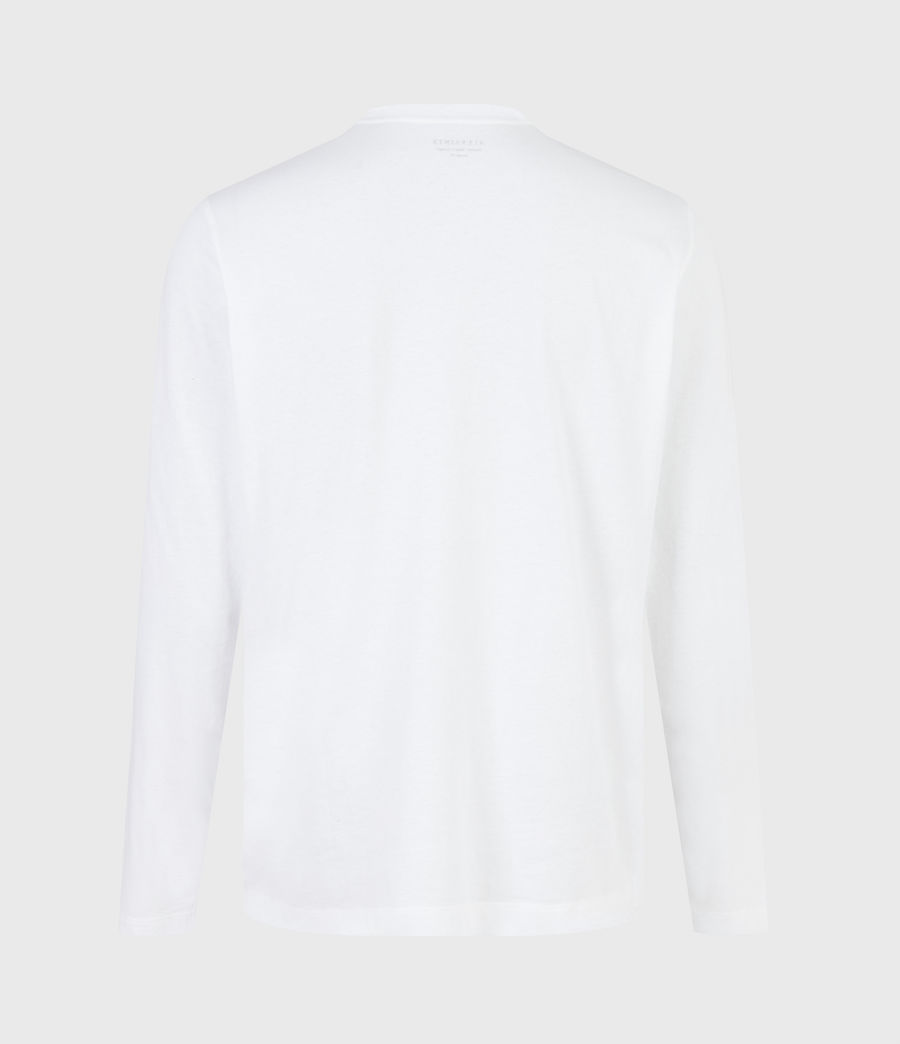 Men's Ceremony Long Sleeve Crew T-Shirt (optic_white) - Image 3