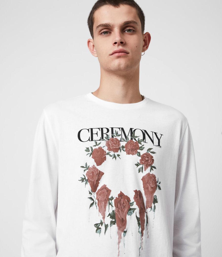 Men's Ceremony Long Sleeve Crew T-Shirt (optic_white) - Image 6