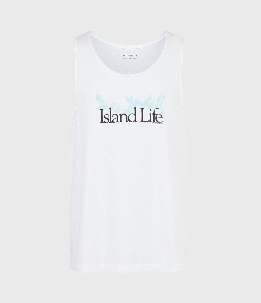 Mens Island Life Raw Edge Vest (optic_white) - Image 2