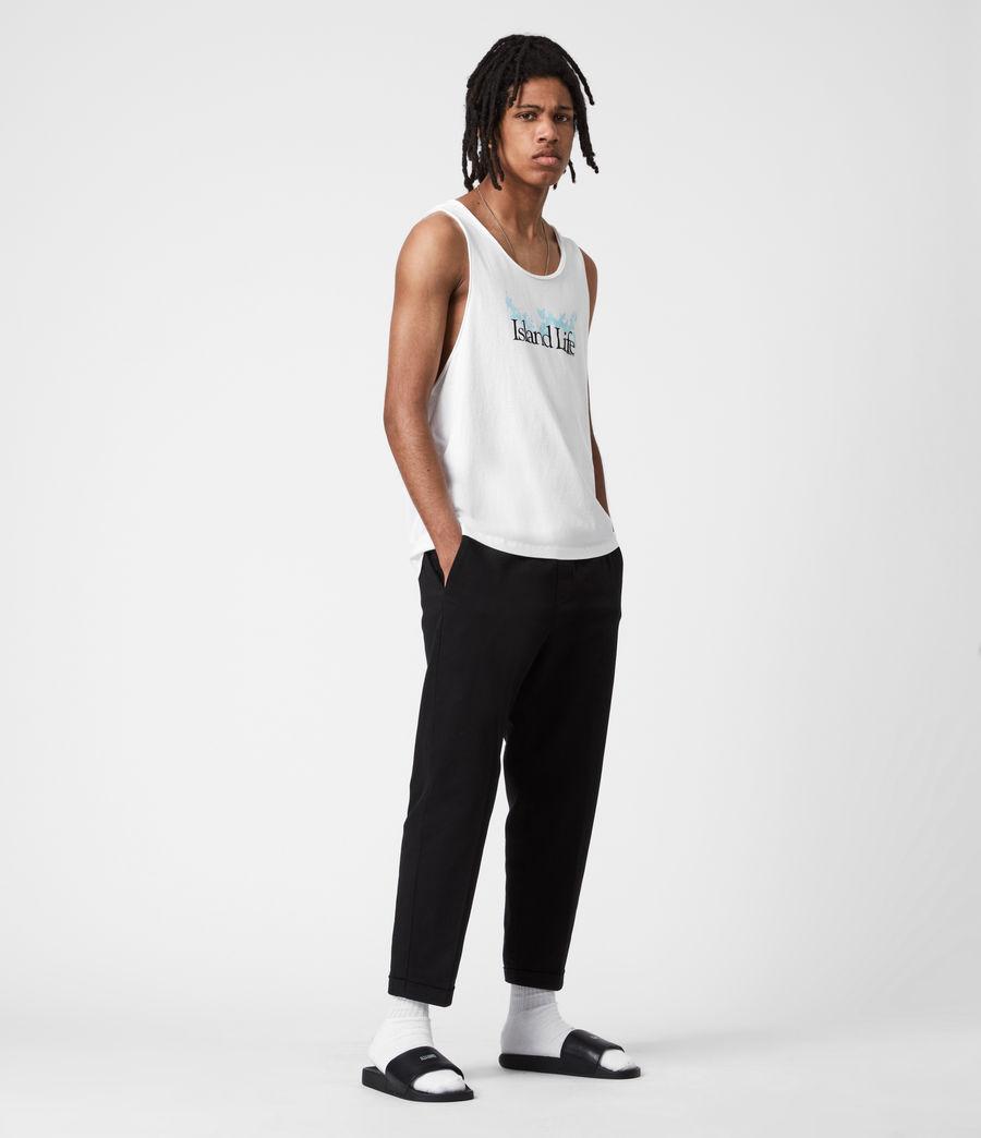 Mens Island Life Raw Edge Vest (optic_white) - Image 6