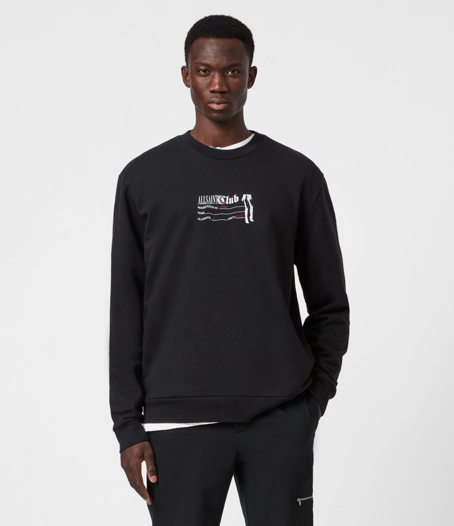 Men's Club Sweatshirt (jet_black) - Image 1