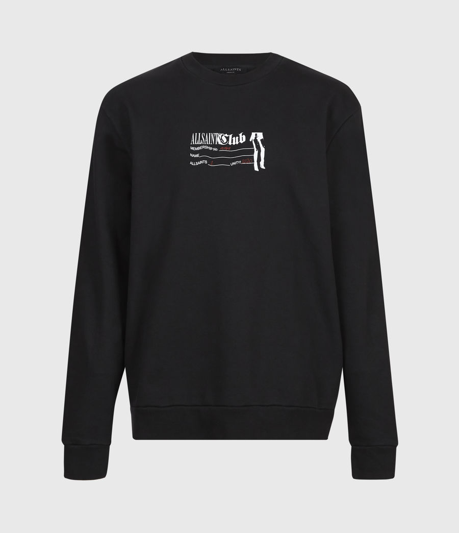 Men's Club Sweatshirt (jet_black) - Image 2