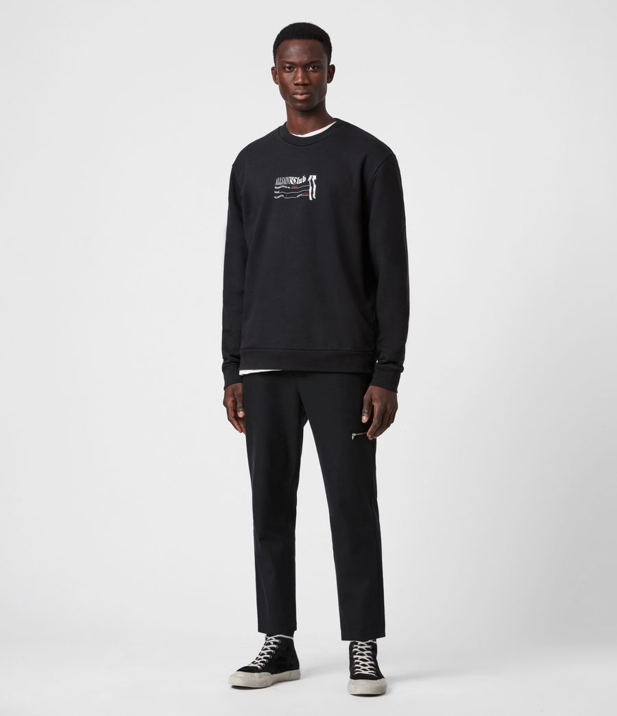 Men's Club Sweatshirt (jet_black) - Image 4