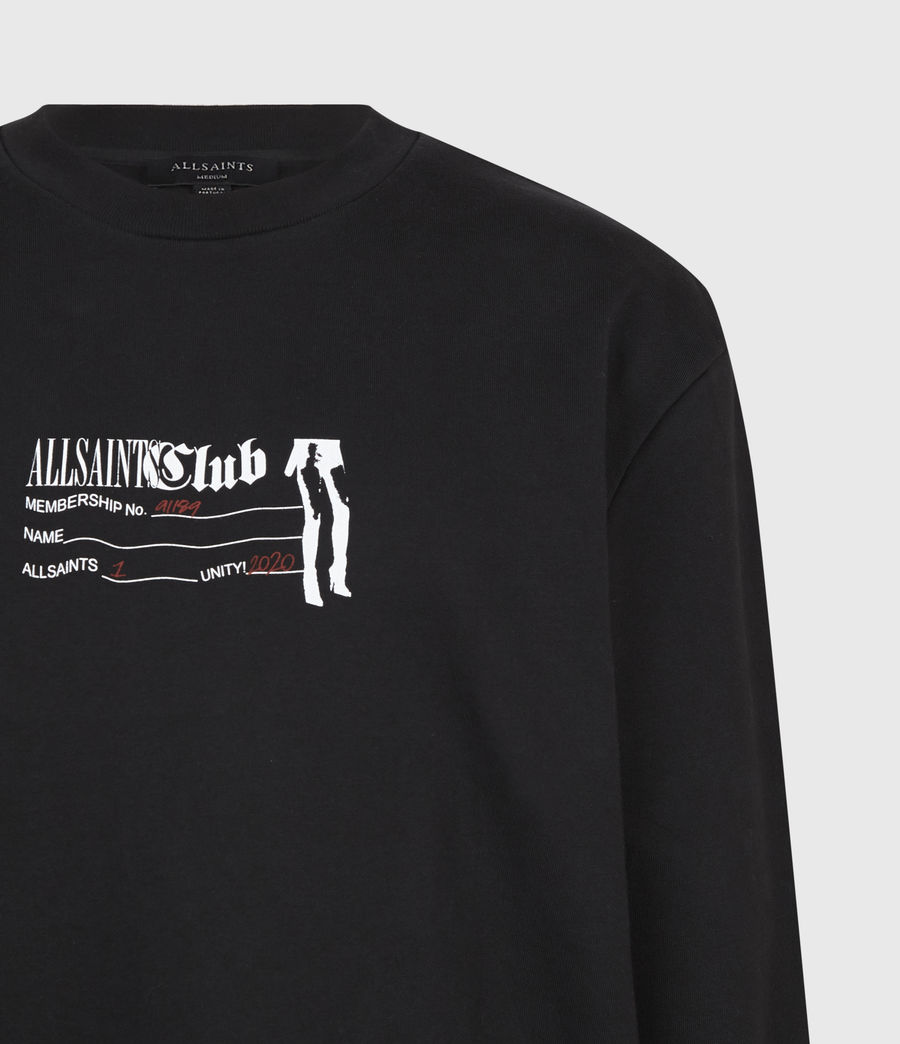 Men's Club Sweatshirt (jet_black) - Image 5