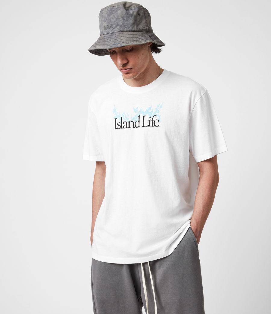Men's Island Life Crew T-Shirt (optic_white) - Image 1