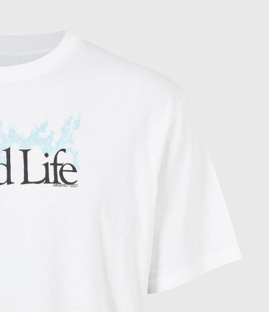 Men's Island Life Crew T-Shirt (optic_white) - Image 5
