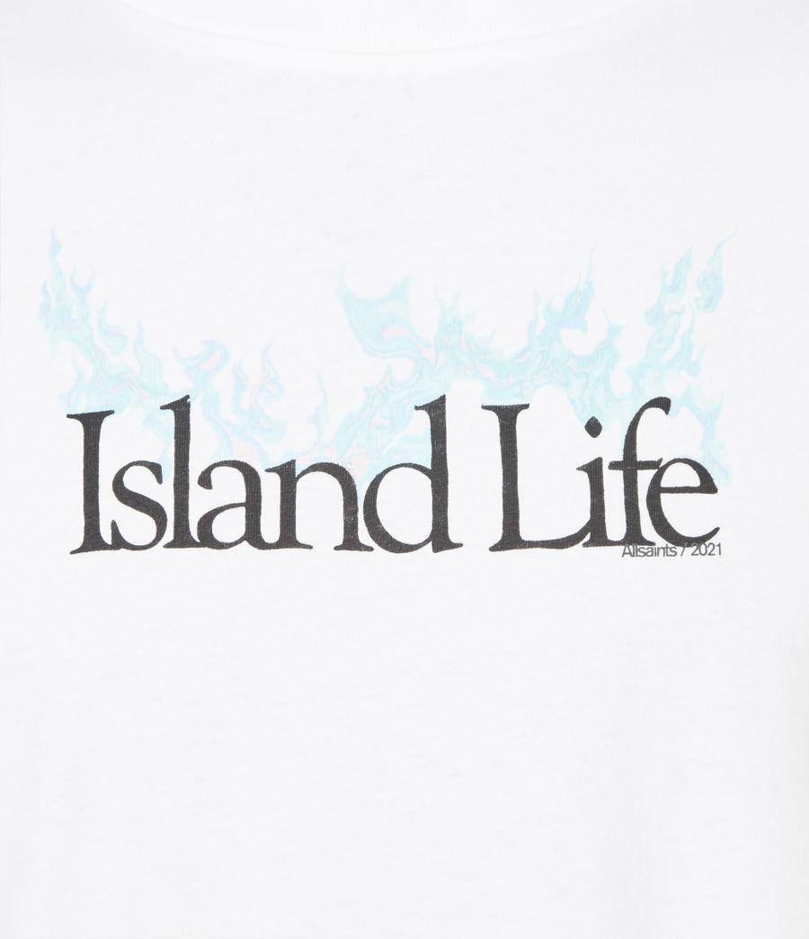 Men's Island Life Crew T-Shirt (optic_white) - Image 6