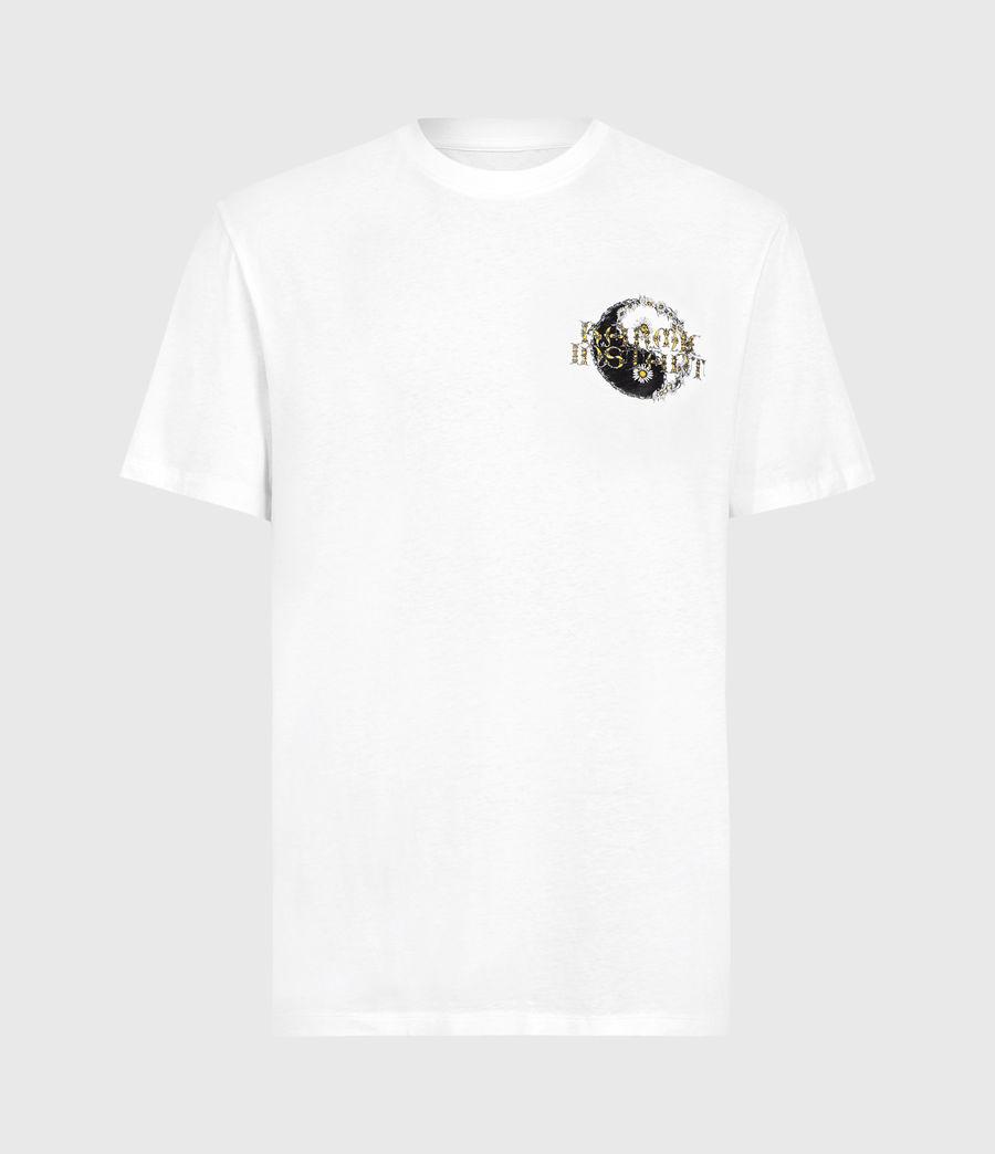 Hombre Shanti Crew T-Shirt (optic_white) - Image 1