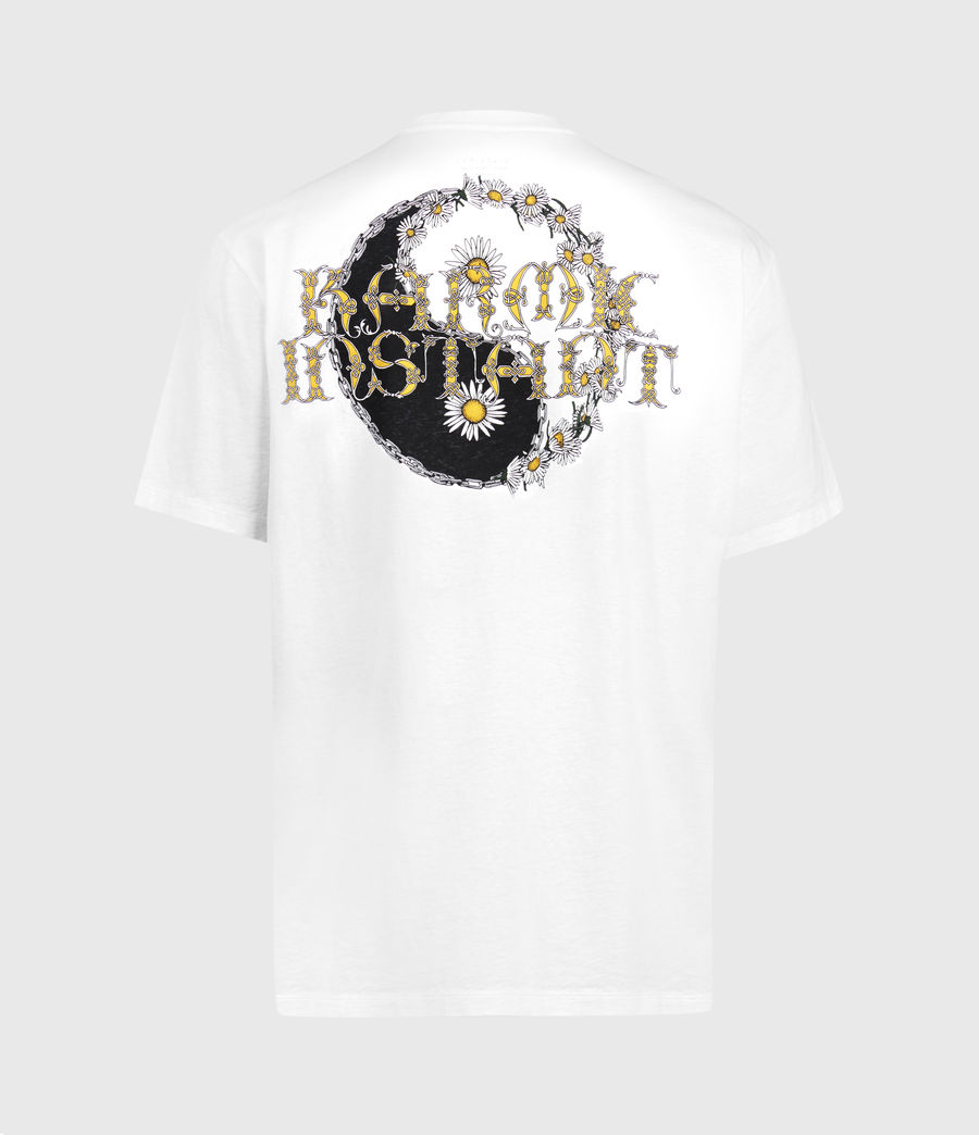 Hombres Shanti Crew T-Shirt (optic_white) - Image 2