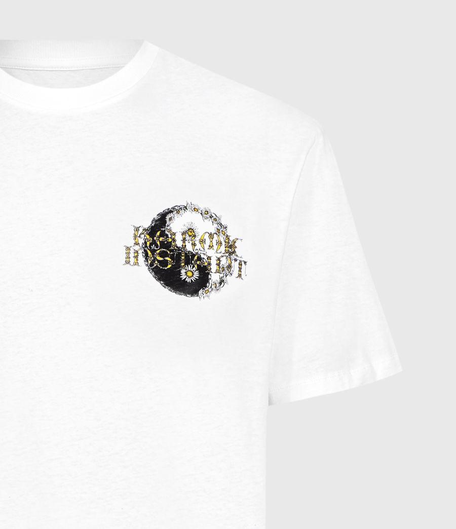 Hombre Shanti Crew T-Shirt (optic_white) - Image 3