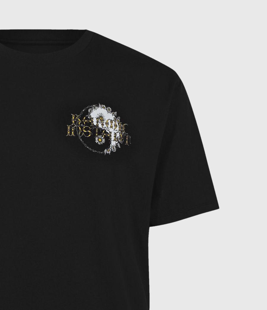 Mens Shanti Crew T-Shirt (jet_black) - Image 3