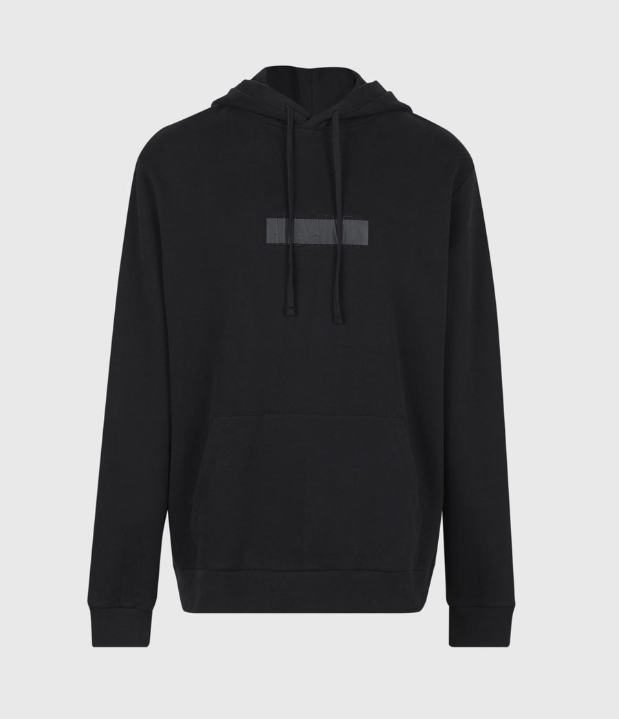 Mens Stamp Laminate Hoodie (jet_black) - Image 2