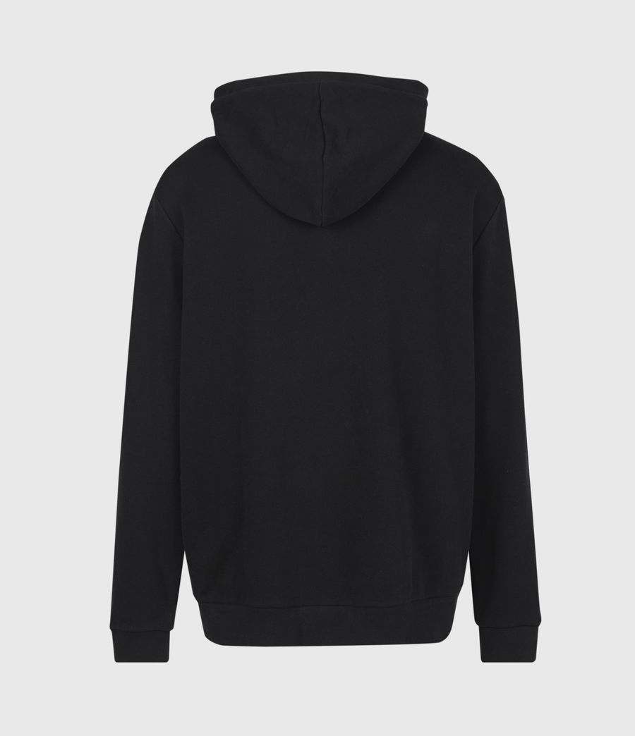 Mens Stamp Laminate Hoodie (jet_black) - Image 3