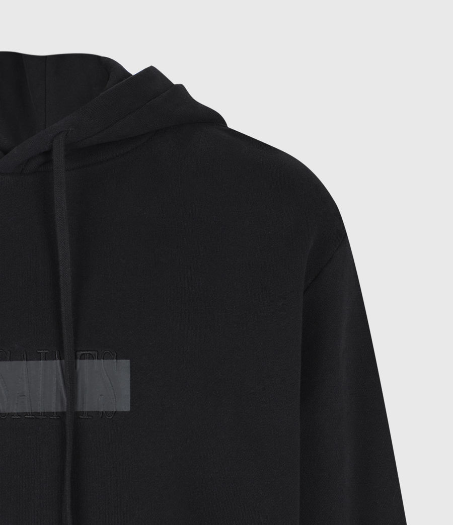 Mens Stamp Laminate Hoodie (jet_black) - Image 5