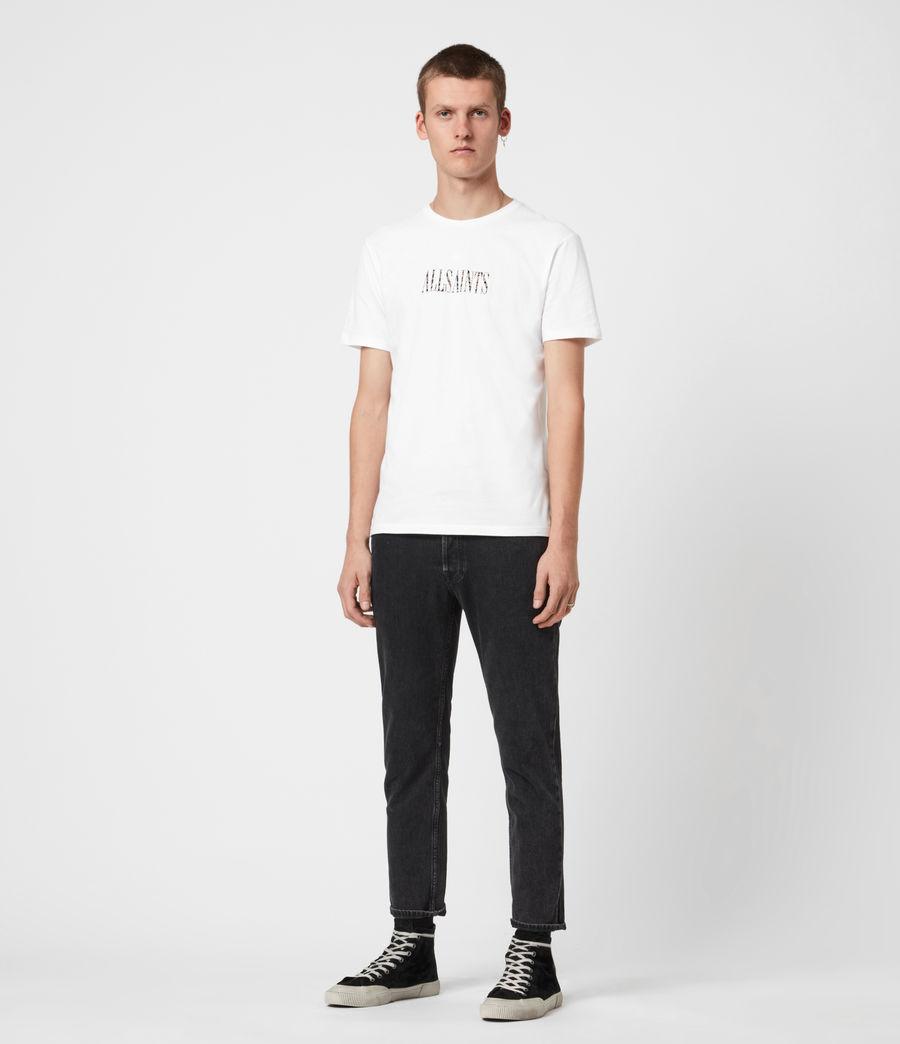 Mens Stamp Camo Crew T-Shirt (optic_white) - Image 4