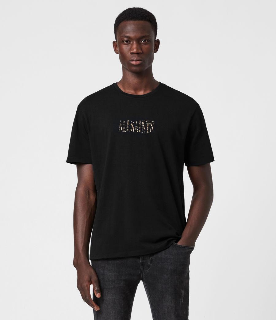 Herren Stamp Camo Crew T-Shirt (jet_black) - Image 1