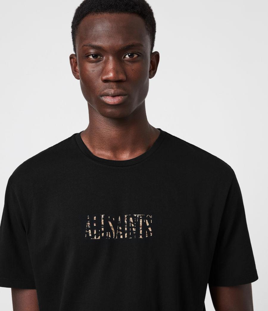 Herren Stamp Camo Crew T-Shirt (jet_black) - Image 4