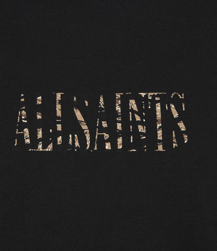 Herren Stamp Camo Crew T-Shirt (jet_black) - Image 6