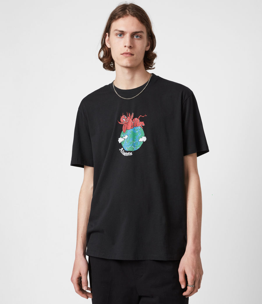 Men's Ruler Crew T-Shirt (jet_black) - Image 1