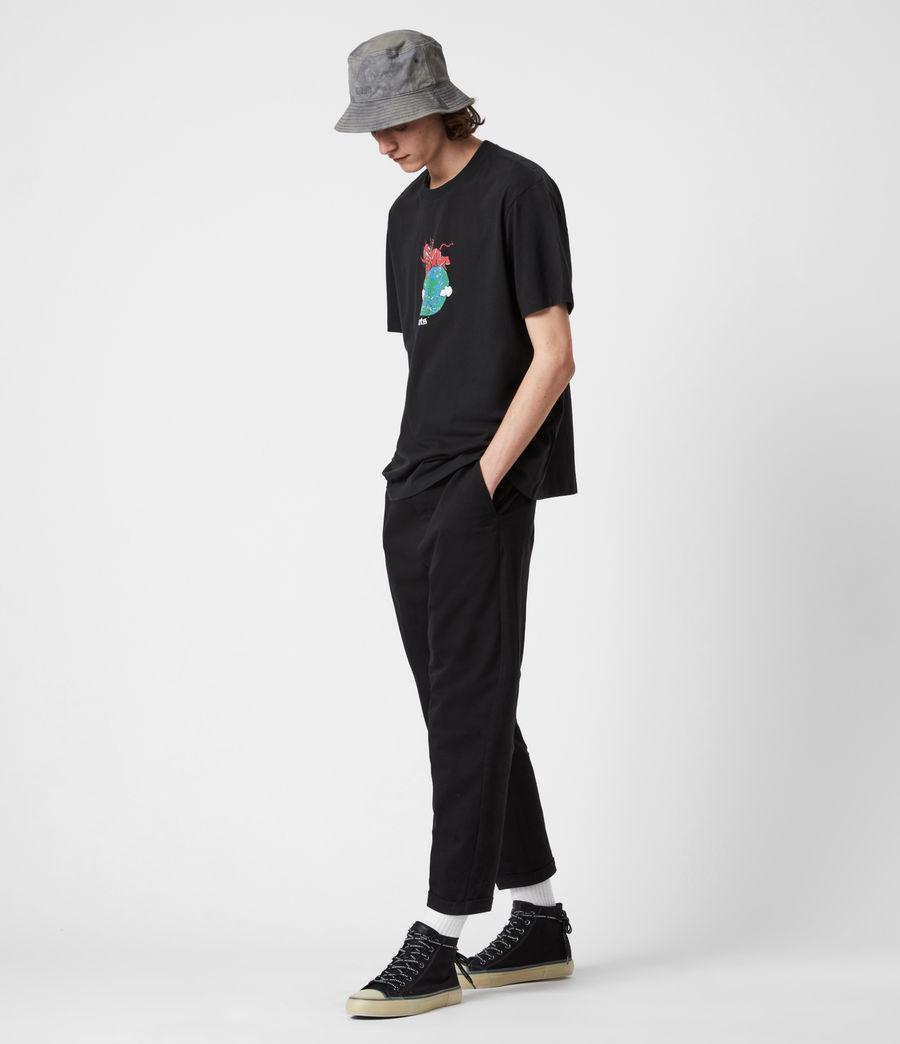 Men's Ruler Crew T-Shirt (jet_black) - Image 7