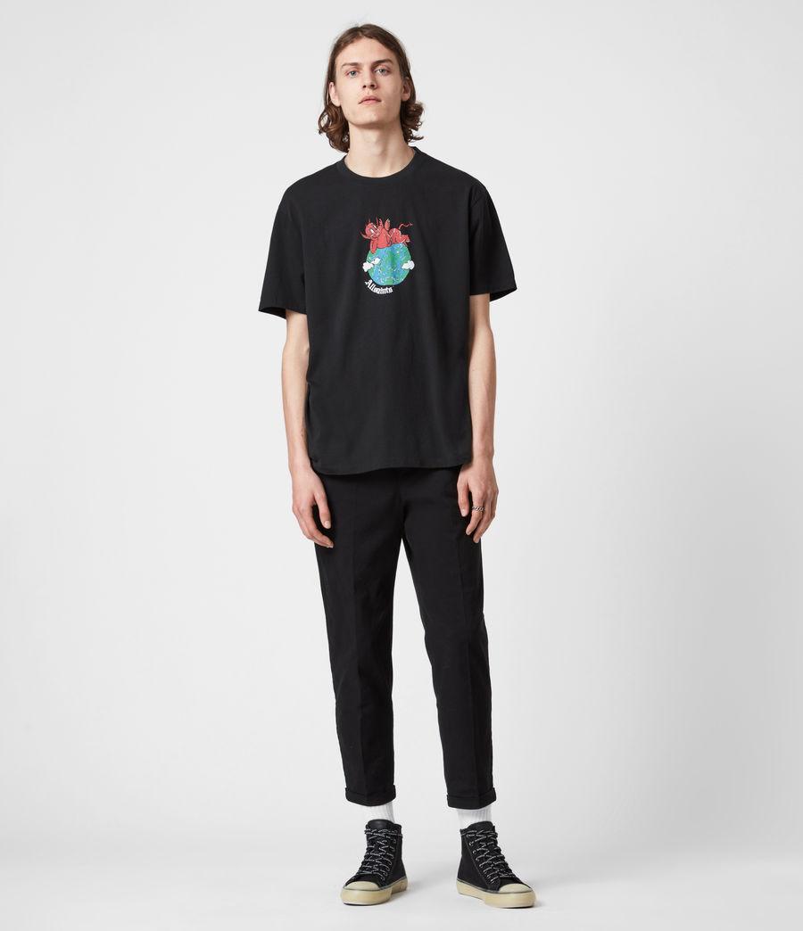 Men's Ruler Crew T-Shirt (jet_black) - Image 8