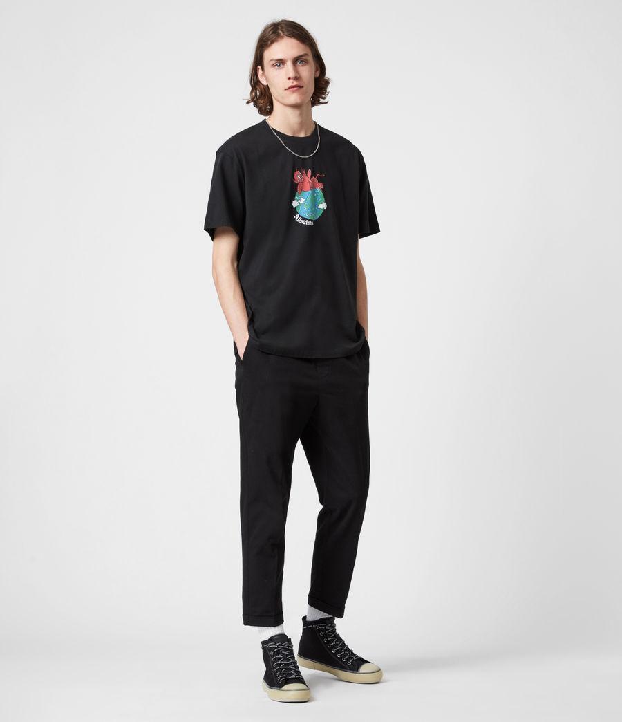 Men's Ruler Crew T-Shirt (jet_black) - Image 9