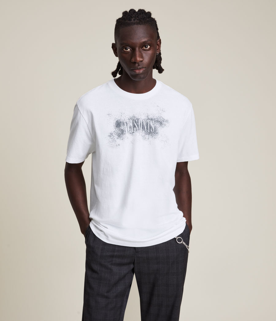 Men's Shadow Stamp Crew T-Shirt (optic_white) - Image 3