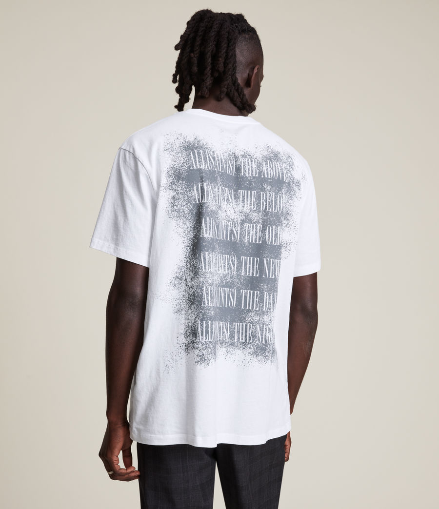Men's Shadow Stamp Crew T-Shirt (optic_white) - Image 4