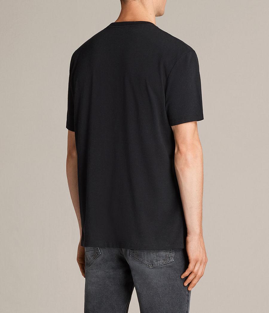 Mens Night Wolvs Crew T-Shirt (black) - Image 3
