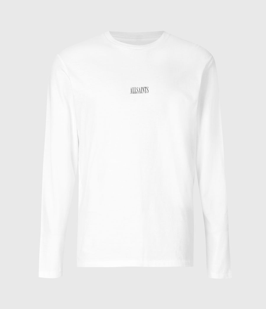 Men's State Long Sleeve Crew T-Shirt (optic_white) - Image 2
