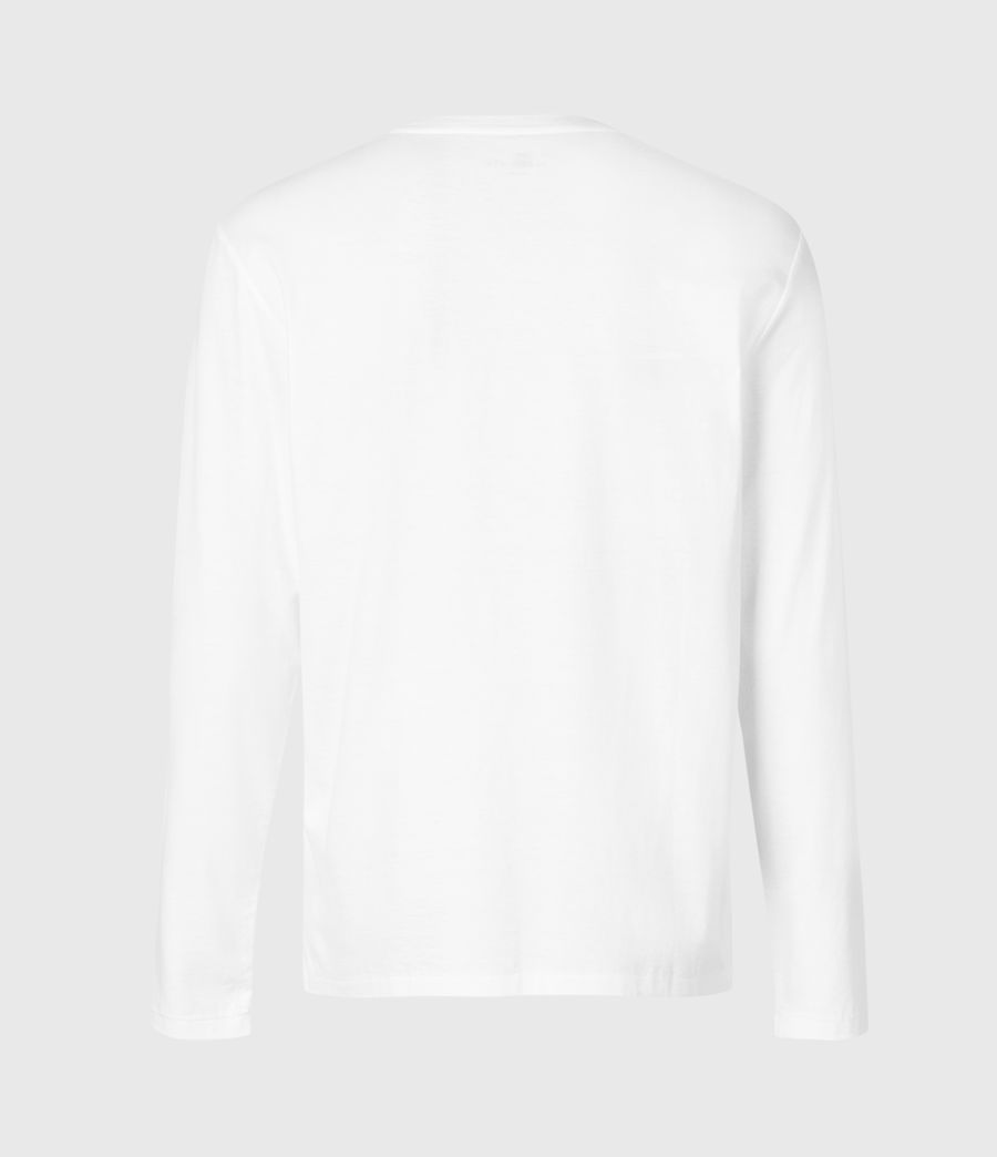 Men's State Long Sleeve Crew T-Shirt (optic_white) - Image 3