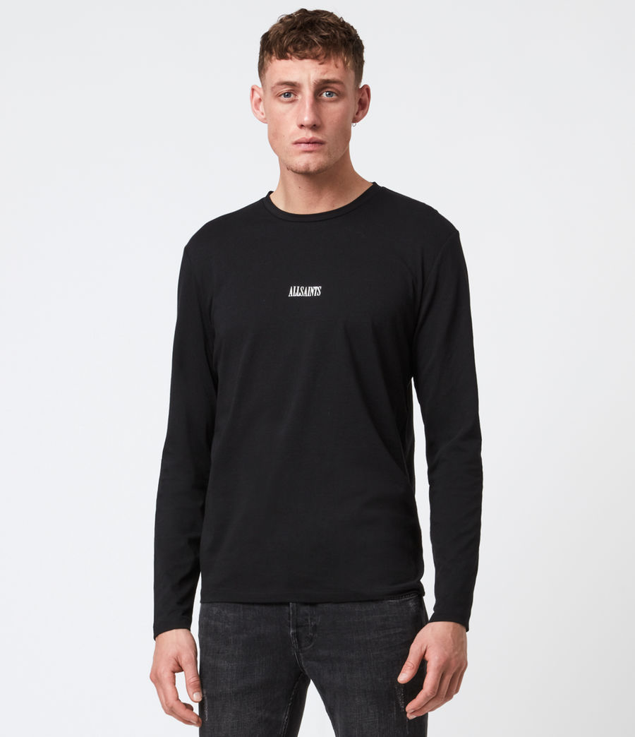 Men's State Long Sleeve Crew T-Shirt (jet_black) - Image 1
