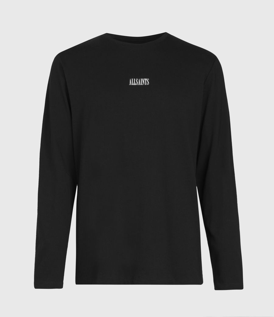 Men's State Long Sleeve Crew T-Shirt (jet_black) - Image 2