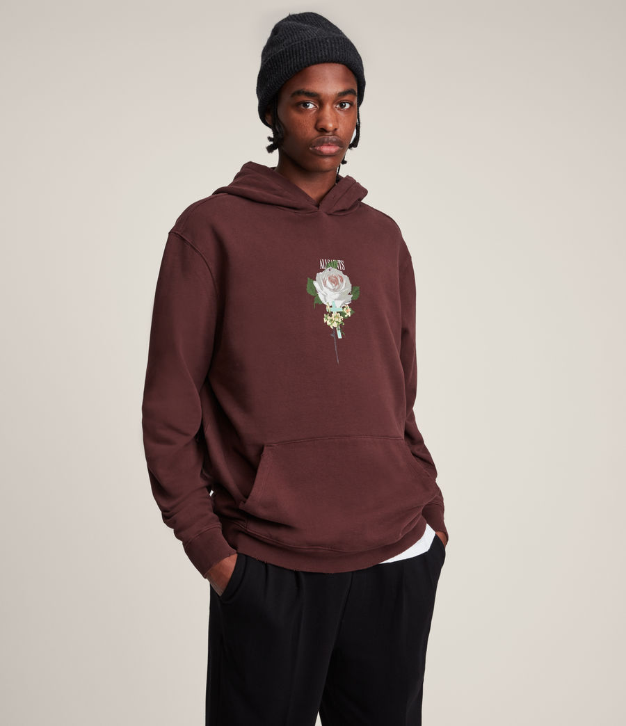 Hommes Wreath Pullover Hoodie (charred_red) - Image 1
