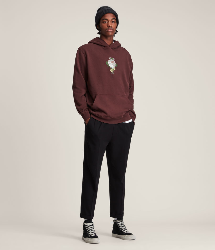 Hommes Wreath Pullover Hoodie (charred_red) - Image 3