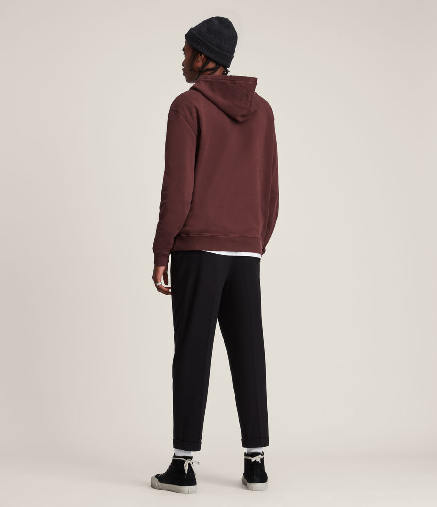 Hommes Wreath Pullover Hoodie (charred_red) - Image 5
