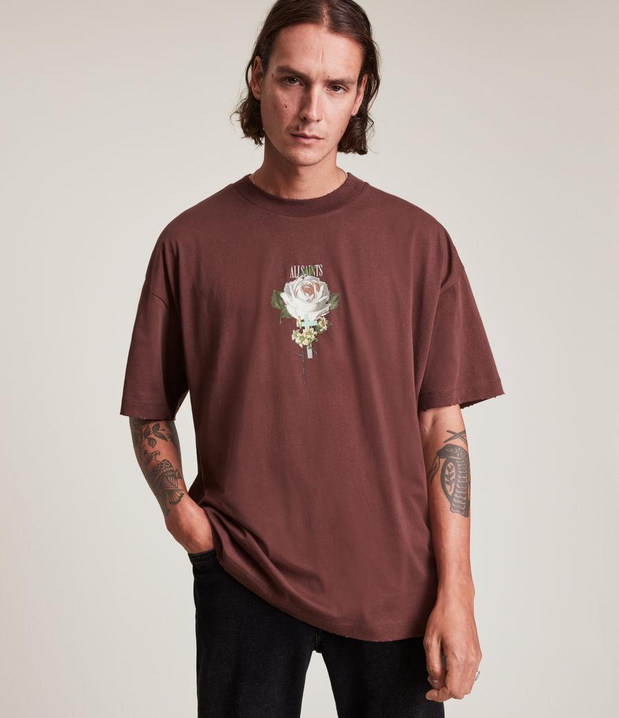 Men's Wreath Crew T-Shirt (charred_red) - Image 1