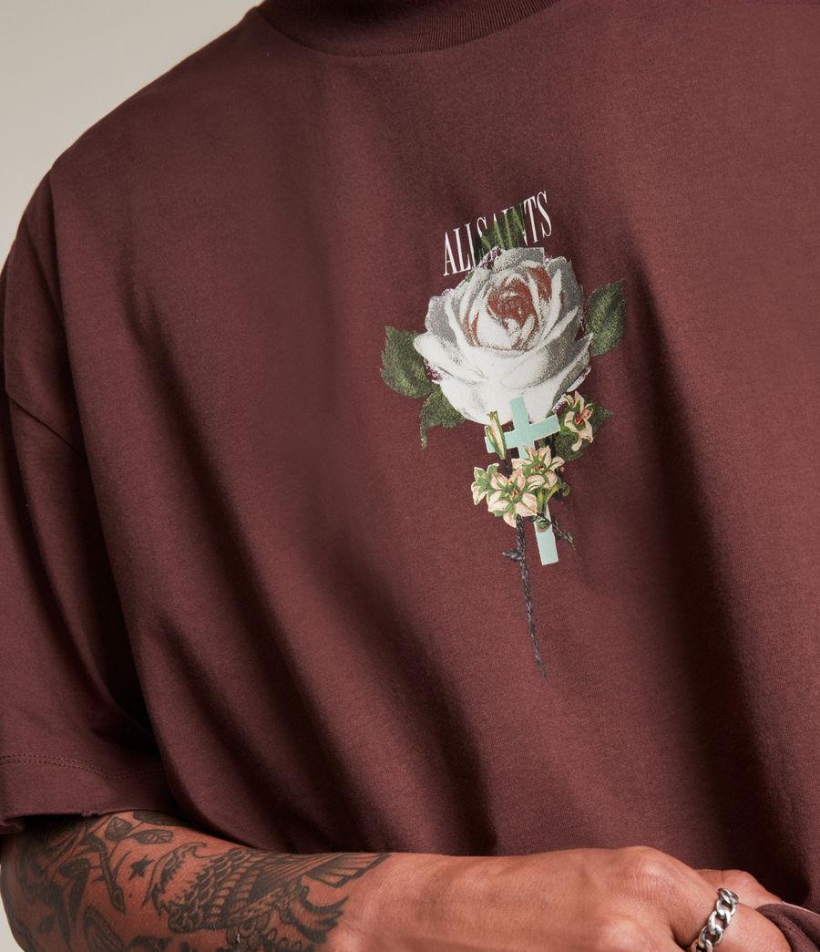 Men's Wreath Crew T-Shirt (charred_red) - Image 2