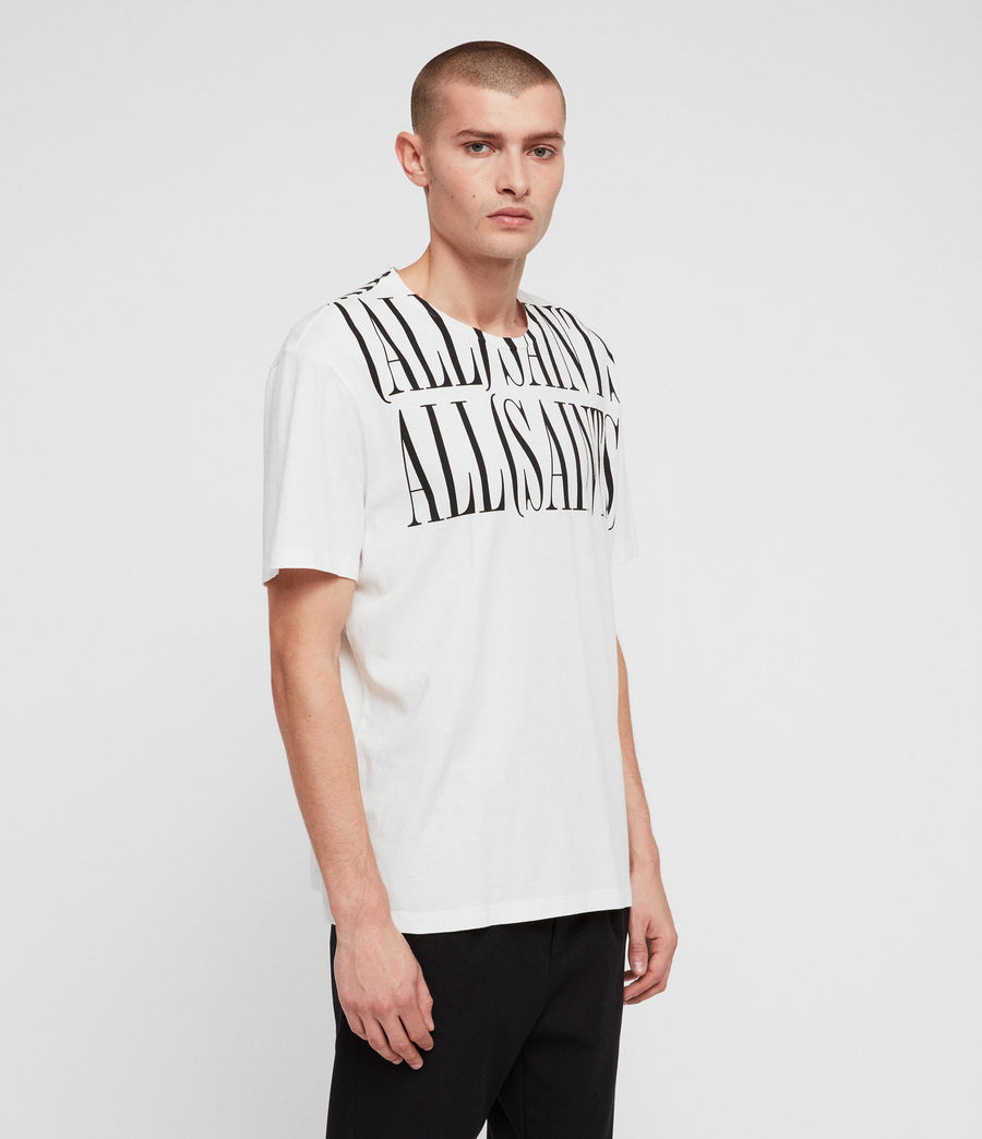 Men's Concerto Collar Crew T-Shirt (chalk_washed_black) - Image 4