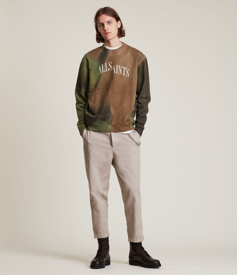 Mens Camo Dropout Crew Sweatshirt (meadow_green) - Image 2