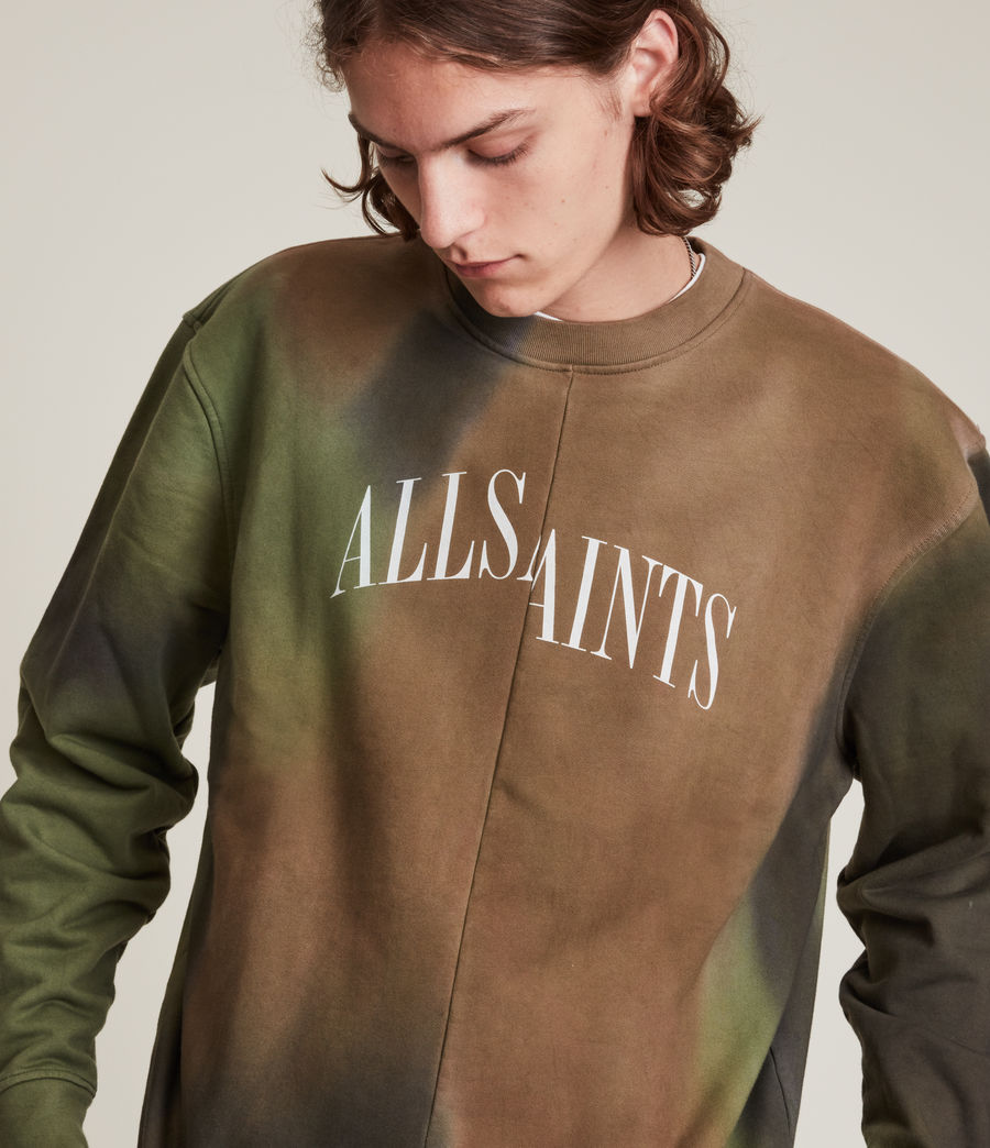 Mens Camo Dropout Crew Sweatshirt (meadow_green) - Image 3