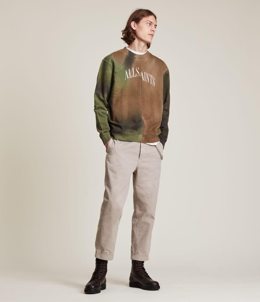 Mens Camo Dropout Crew Sweatshirt (meadow_green) - Image 4