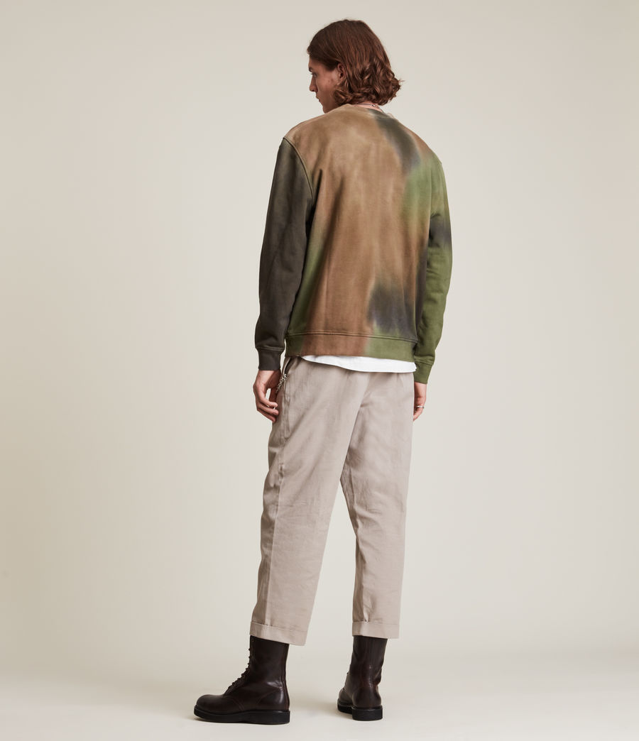 Mens Camo Dropout Crew Sweatshirt (meadow_green) - Image 5