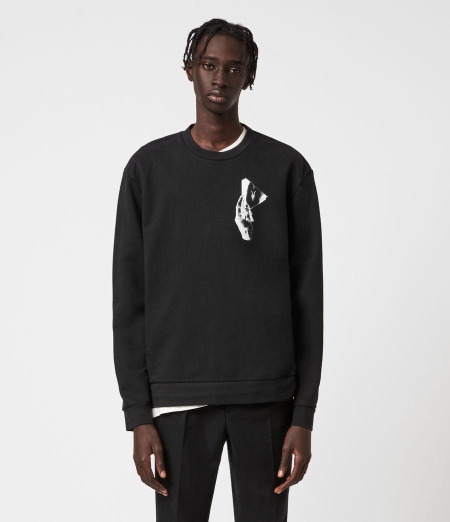 Mens Mirror Crew Sweatshirt (black) - Image 1