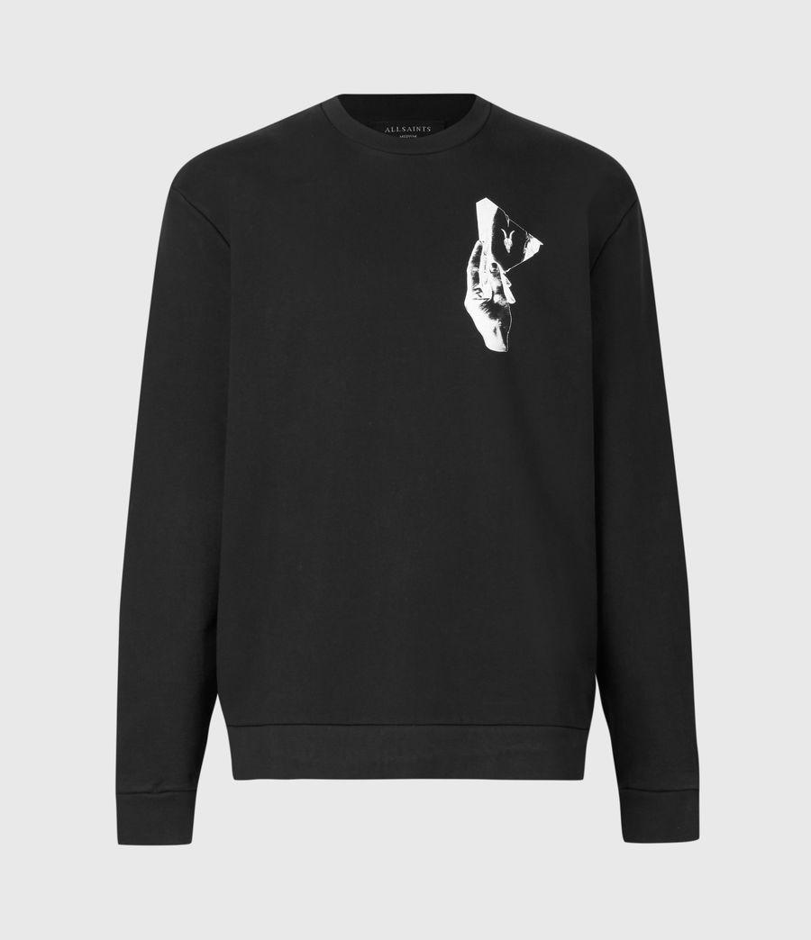 Mens Mirror Crew Sweatshirt (black) - Image 2