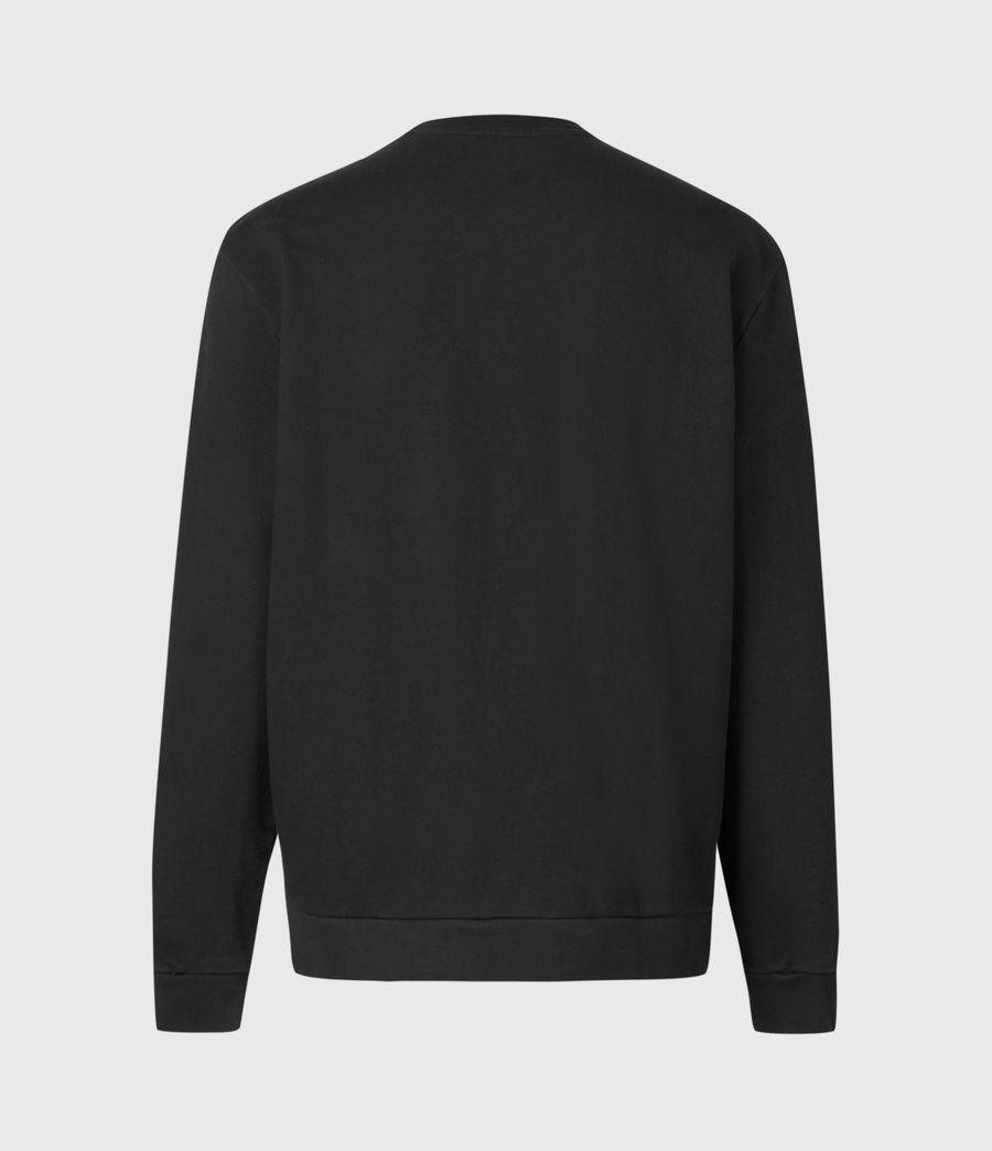 Mens Mirror Crew Sweatshirt (black) - Image 3