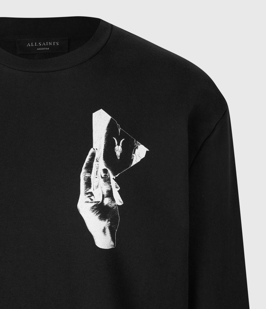 Mens Mirror Crew Sweatshirt (black) - Image 4